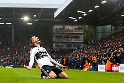 Andre Schurrle of Fulham celebrates scoring a goal to make it 4-2 - Mandatory by-line: Robbie Stephenson/JMP - 26/08/2018 - FOOTBALL - Craven Cottage - Fulham, England - Fulham v Burnley - Premier League