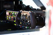 March 16, 2013: 61st Mobil 1 12 Hours of Sebring. Steering wheel detail Audi R18 e-tron quattro,