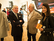 SIR ALAN BOWNESS; BERNARD JACOBSON, Opening of Abstract Expressionism, Royal Academy, Piccadilly, London, 20 September 2016