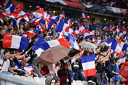May 28, 2018 - Saint Denis, France - ILLUSTRATION - SUPPORTERS - DRAPEAUX - PARAPLUIE (Credit Image: © Panoramic via ZUMA Press)