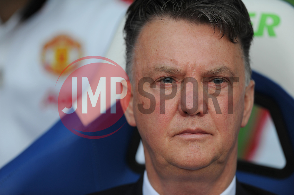 Manchester United Manager, Louis van Gaal - Photo mandatory by-line: Alex James/JMP - Mobile: 07966 386802 - 09/05/2015 - SPORT - Football - London - Selhurst Park - Crystal Palace v Manchester United - Barclays Premier League