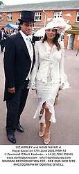 LIZ HURLEY and ARUN NAYAR at Royal Ascot on 17th June 2004.PWH 51
