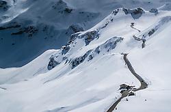 THEMENBILD - das Mittertörl, der Mankeiwirt und das Straßenwärterhaus im Schnee. Die Grossglockner Hochalpenstrasse verbindet die beiden Bundeslaender Salzburg und Kaernten mit einer Laenge von 48 Kilometer und ist als Erlebnisstrasse vorrangig von touristischer Bedeutung, aufgenommen am 2. Mai 2017, Fusch a. d. Glocknerstrasse, Oesterreich // The Mittertörl, the Mankeiwirt and the road maintenance house in the snow. The Grossglockner High Alpine Road connects the two provinces of Salzburg and Carinthia with a length of 48 km and is as an adventure road priority of tourist interest at Fusch a. d. Glocknerstrasse, Austria on 2017/05/02. EXPA Pictures © 2017, PhotoCredit: EXPA/ JFK