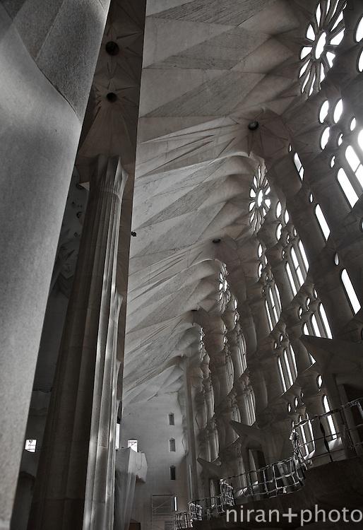 Interior Case Study of  La Sagrada Familia, Barcelona