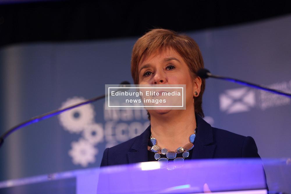 Nicola Sturgeon speaking at the National Economic Forum, Corn Exchange, Edinburgh pic copyright Terry Murden @edinburghelitemedia