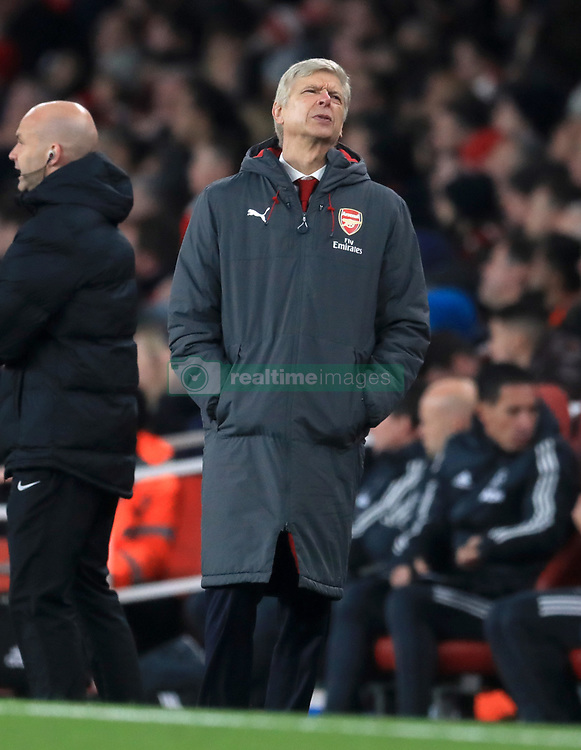 "Arsenal manager Arsene Wenger appears dejected during the Premier League match at the Emirates Stadium, London. PRESS ASSOCIATION Photo Picture date: Saturday December 2, 2017. See PA story SOCCER Arsenal. Photo credit should read: Adam Davy/PA Wire. RESTRICTIONS: EDITORIAL USE ONLY No use with unauthorised audio, video, data, fixture lists, club/league logos or ""live"" services. Online in-match use limited to 75 images, no video emulation. No use in betting, games or single club/league/player publications."