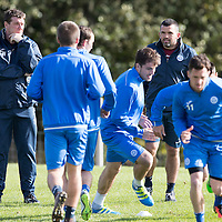 St Johnstone Training….30.09.16<br />Manager Tommy Wright and assistant Callum Davidson pictured during training this morning<br />Picture by Graeme Hart.<br />Copyright Perthshire Picture Agency<br />Tel: 01738 623350  Mobile: 07990 594431