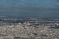 France. Paris The north of Paris. / le nord de  Paris vue d'en haut
