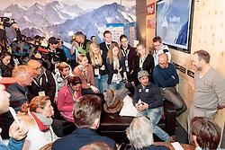 15.02.2017, St. Moritz, SUI, FIS Weltmeisterschaften Ski Alpin, St. Moritz 2017, Pressekonferenz ÖSV, im Bild Marcel Hirscher (AUT) // Marcel Hirscher of Austria during a press conference of Austrian Ski Team of the FIS Ski World Championship. St. Moritz, Switzerland on 2017/02/15. EXPA Pictures © 2017, PhotoCredit: EXPA/ Johann Groder