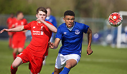 LIVERPOOL, ENGLAND - Saturday, April 9, 2016: Everton's Callum Lees in action against Liverpool during the FA Premier League Academy match at Finch Farm. (Pic by David Rawcliffe/Propaganda)