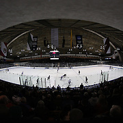 The unique Ingalls Rink during the Yale Vs Union College, Men's College Ice Hockey game at Ingalls Rink, New Haven, Connecticut, USA. 28th February 2014. Photo Tim Clayton