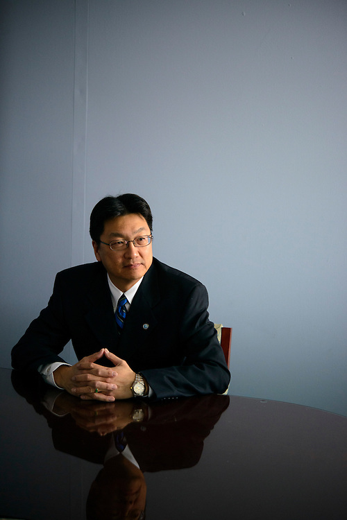 Baltimore Bureau of Water & Wastewater department head Rudolph Chow, is photographed at his office in Abel Wolman Municipal Building in Baltimore, Maryland on Monday, April 29, 2013.