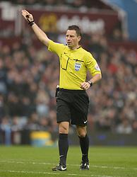 Referee Mark Clattenburg - Photo mandatory by-line: Alex James/JMP - Mobile: 07966 386802 - 15/02/2015 - SPORT - Football - Birmingham - Villa Park - Aston Villa v Leicester City - FA Cup - Fifth Round