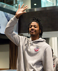 Lovell Cook of Bristol Flyers is presented to the sponsors and fans - Mandatory by-line: Robbie Stephenson/JMP - 12/09/2016 - BASKETBALL - Ashton Gate Stadium - Bristol, England - Bristol Flyers Sponsors Event