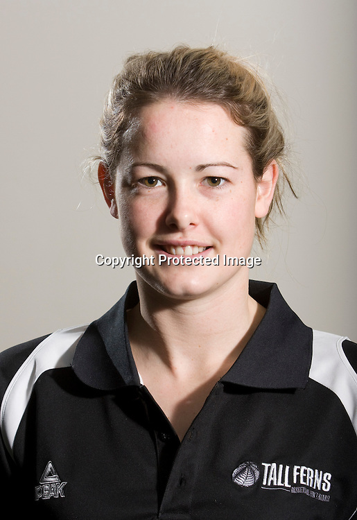 Georgina Richards, Guard. Tall Ferns Basketball team headshots. Napier, New Zealand, Friday 28 August 2009. Photo: John Cowpland/PHOTOSPORT