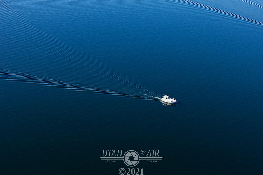 Fishing boat on Lake Powell Reservoir