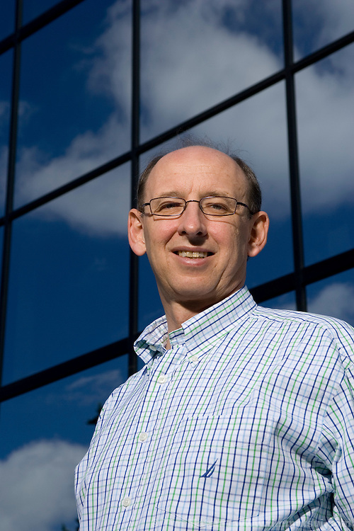 Portrait of Walter Seemayer, Microsoft Director of Manufacturing and Industry for the Worldwide Midmarket, at the Redmond Microsoft campus.