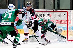 07.10.2012, Hostan Arena, Znojmo, CZE, EBEL, HC Orli Znojmo vs HDD Olimpija Ljubljana, 10. Runde, im Bild # 91: Verlic Miha LJU, 35. Kuhn Jerry LJU, 96. Jarusek Richard ZN  during the Erste Bank Icehockey League 10nd round match betweeen HC Orli Znojmo and HDD Olimpija Ljubljana at the Hostan Arena, Znojmo, Czech Republic on 2012/10/07. EXPA Pictures © 2012, PhotoCredit: EXPA/  Rostislav Pfeffer
