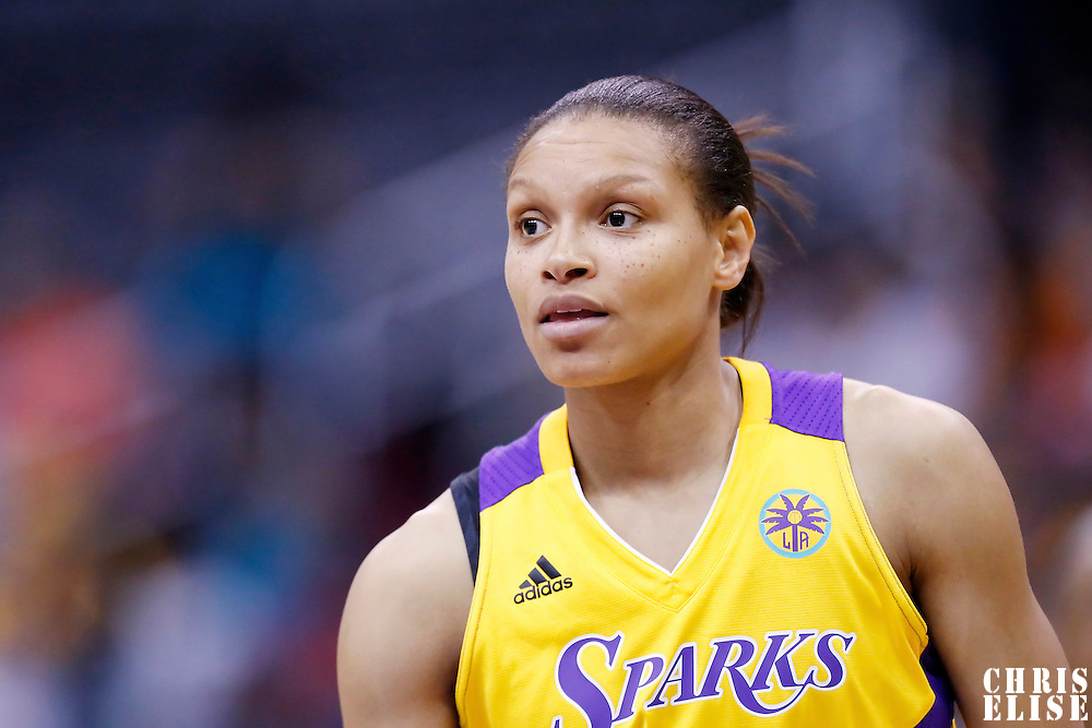 25 May 2014: Los Angeles Sparks guard/forward Armintie Herrington (22) is seen during the Los Angeles Sparks 83-62 victory over the San Antonio Stars, at the Staples Center, Los Angeles, California, USA.