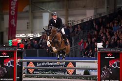 Greve Willem, (NED), Dantos HBC<br /> VHO Trofee springen<br /> KWPN Hengstenkeuring - 's Hertogenbosch 2016<br /> © Hippo Foto - Dirk Caremans<br /> 04/02/16