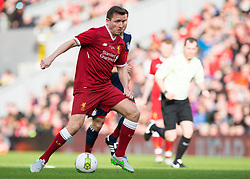 LIVERPOOL, ENGLAND - Saturday, March 24, 2018. Vladimir Smicer of Liverpool Legends in action during the LFC Foundation charity match between Liverpool FC Legends and FC Bayern Munich Legends at Anfield. (Pic by Peter Powell/Propaganda)