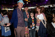 BOB AND ROBERTA SMITH; JESSICA VOORSANGER; FERGAL; ETTA, , The Tate Movie Project Launch, Tate Modern. London. 5 July 2011. <br /> <br />  , -DO NOT ARCHIVE-© Copyright Photograph by Dafydd Jones. 248 Clapham Rd. London SW9 0PZ. Tel 0207 820 0771. www.dafjones.com.