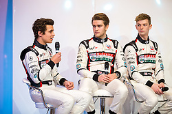 Rising star and 2017 McLaren Autosport BRDC Award Winner Lando Norris (L) is interviewed on stage at Autosport International, the season opening motorport show - Rogan Thomson/JMP - 12/01/2017 - MOTORSPORT - The NEC - Birmingham, England - Autosport International Day 1.