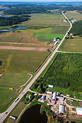 The Treinen Corn Maze near Lodi, Wisconsin, USA.
