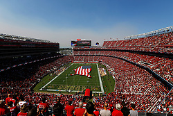 SANTA CLARA, CA - OCTOBER 07: A view of pregame ceremonies prior to the NFL game between the San Francisco 49ers and the Arizona Cardinals at Levi's Stadium on October 7, 2018 in Santa Clara, California. (Photo by Jason O. Watson/Getty Images)