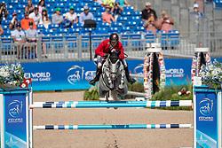 Fuchs Martin, SUI, Clooney<br /> Tryon - FEI World Equestrian Games™ 2018<br /> Springen Zeitspringprüfung Teamwertung Einzelwertung 1 Runde<br /> 19. September 2018<br /> © www.sportfotos-lafrentz.de/Dirk Caremans