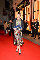ELLA CATLIFF at the launch of the new Bulgari flagship store at 168 New Bond Street, London on 14th April 2016.
