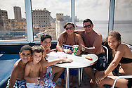 Cuban Family at swiming pool in Hotel-Havana, Cuba