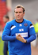 Micky Mellon manager of Shrewsbury Town during the Sky Bet League 1 match at Oakwell, Barnsley<br /> Picture by Graham Crowther/Focus Images Ltd +44 7763 140036<br /> 05/09/2015