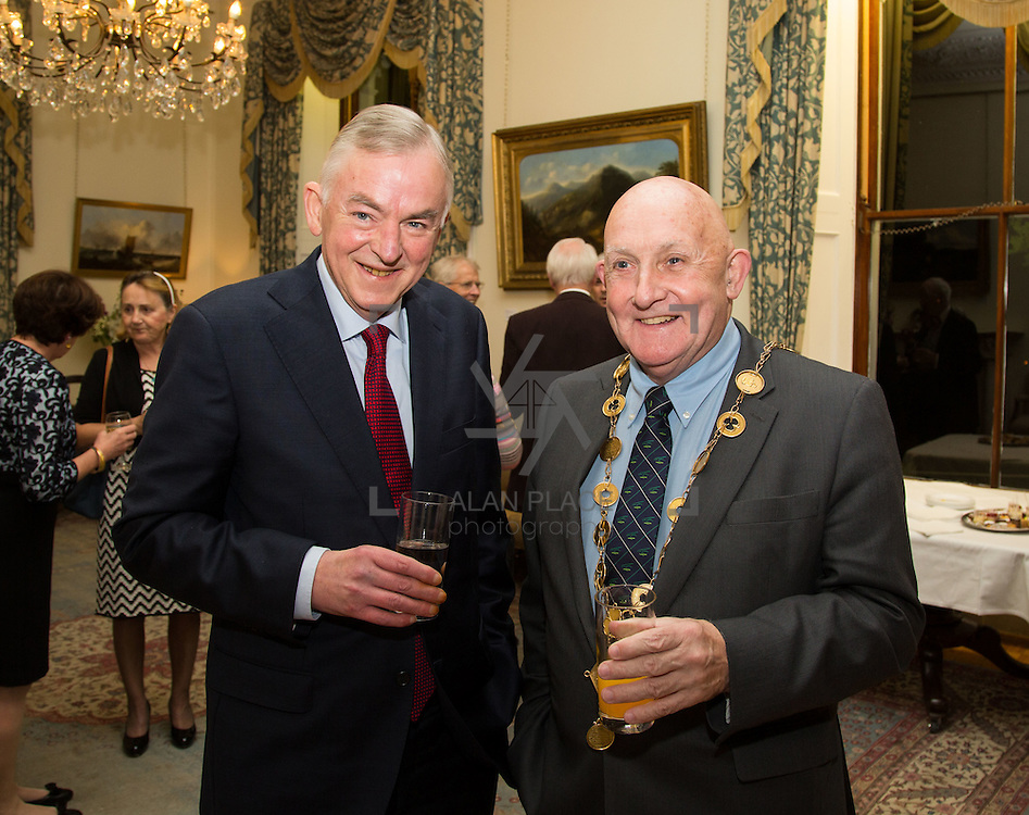 22.11.2016                   <br /> University of Limerick (UL) hosted a gala concert celebrating the music of renowned composer M&iacute;che&aacute;l &Oacute; S&uacute;illeabh&aacute;in.<br /> <br /> Pictured at a special reception before the concert were, Prof. Don Barry, President UL and Mayor of Limerick City and County, Cllr. Kieran O'Hanlon.<br /> <br /> <br /> The RT&Eacute; Concert Orchestra, conducted by David Brophy, performed with M&iacute;che&aacute;l and a selection of special guests in University Concert Hall Limerick. Picture: Alan Place