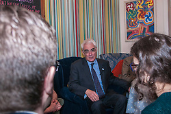 Better Together leader Alistair Darling joined a small group, including business people and trade unionists, in the Piecebox Cafe in Edinburgh to discuss the impact of Scottish independence on currency. 17 February 2014 (c) GER HARLEY | StockPix.eu
