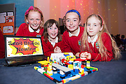 Ciara McGrath, Ciara Hanlon, Hannah Keane, Heather Kenny from New Inn NS  at the annual Junior FIRST Lego League run by Galway Education Centre, in the Radisson blu Hotel.  Photo:Andrew Downes<br />  Photo:Andrew Downes, XPOSURE