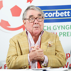 CARDIFF, WALES - Tuesday, August 14, 2012: Ronnie Corbett, the sporting ambassador for Corbett Sport, at a press conference to launch the 2012/2013 Welsh Premier League at the St. David's Hotel. (Pic by David Rawcliffe/Propaganda)