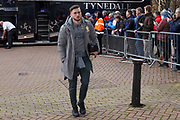 Leeds United midfielder Jack Harrison (22), on loan from Manchester City, arriving during the EFL Sky Bet Championship match between Huddersfield Town and Leeds United at the John Smiths Stadium, Huddersfield, England on 7 December 2019.