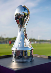 Women's Super League Trophy sits pitch-side at Stoke Gifford Stadium - Mandatory by-line: Paul Knight/JMP - 15/05/2018 - FOOTBALL - Stoke Gifford Stadium - Bristol, England - Bristol City Women v Chelsea Ladies - FA Women's Super League 1