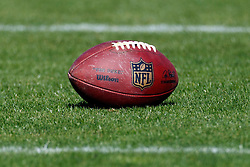 Oct 30, 2011; San Francisco, CA, USA; Detailed view of an NFL football on the field before the game between the San Francisco 49ers and the Cleveland Browns at Candlestick Park. San Francisco defeated Cleveland 20-10. Mandatory Credit: Jason O. Watson-US PRESSWIRE