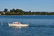 Immenstaad, Motorboot, Bodensee, Baden-Württemberg, Deutschland