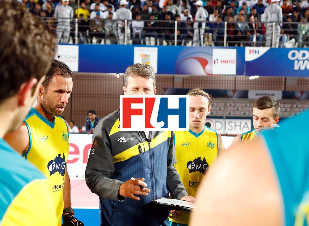 Odisha Men's Hockey World League Final Bhubaneswar 2017<br /> Match id: 20<br /> Australia v Germany<br /> Foto: coach Colin Batch (Aus) <br /> COPYRIGHT WORLDSPORTPICS KOEN SUYK