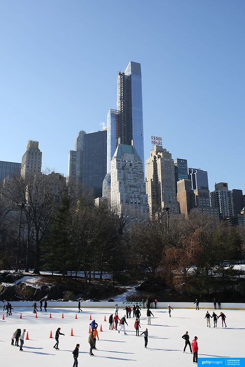 The Wollman Ice Skating Rink, also know as The Trump Skating Rink at the southern part of Central Park, Manhattan, New York City, USA.  Photo Tim Clayton