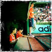 Roland Garros. Paris, France. May 27th 2012.Ball boy..