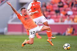 October 22, 2017 - Brisbane, QUEENSLAND, AUSTRALIA - Eric Bautheac of the Roar (#22) scores a goal during the round three Hyundai A-League match between the Brisbane Roar and the Newcastle Jets at Suncorp Stadium on October 22, 2017 in Brisbane, Australia. (Credit Image: © Albert Perez via ZUMA Wire)