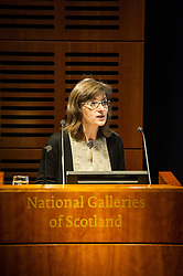 Pictured: Patricia Allerston<br /> <br /> Sir John Leighton, director-general of National Galleries of Scotland; Patricia Allerston, deputy director Scottish National Gallery; and Ben Thomson, chairman of the trustees at National Galleries of Scotland were in attendance as a briefing was given on the redevelopment of the  Scottish National Gallery in Edinburgh. <br /> <br /> Ger Harley | EEm 10 November 2016
