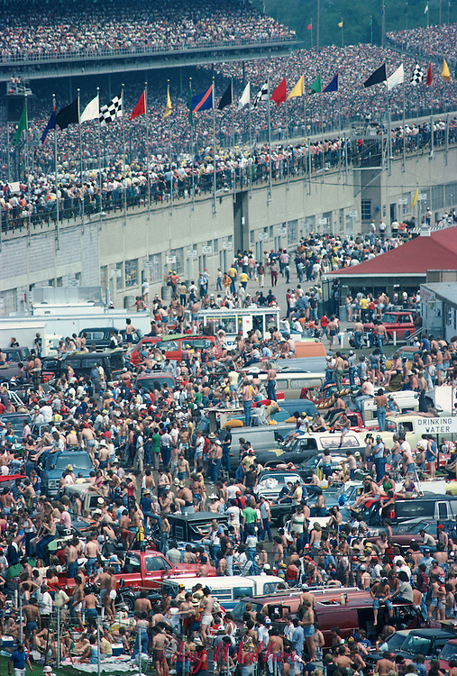 Crowd scene at the 1980 Indianapolis 500.