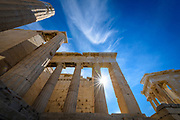 The Parthenon is a former temple, on the Athenian Acropolis, Greece, dedicated to the goddess Athena, whom the people of Athens considered their patron.<br />
