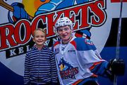 KELOWNA, CANADA - SEPTEMBER 29:  Home Hardware Stick Boy with Kaedan Korczak #6 of the Kelowna Rockets at the Kelowna Rockets game on September 29, 2017 at Prospera Place in Kelowna, British Columbia, Canada.  (Photo By Cindy Rogers/Nyasa Photography,  *** Local Caption ***
