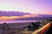 Santa Monica Beach and Pacific Coast Highway, California (LA)